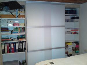 schuifbare panelen W&W als afsluiting open kast