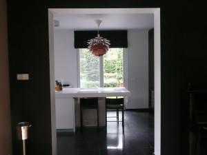 zwarte store katoen/linnen